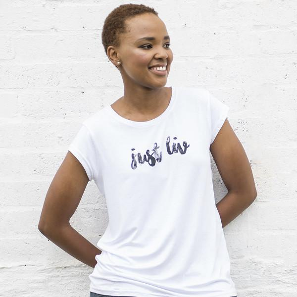 Womens Just LIV Crew Neck Tee - LIV Creative