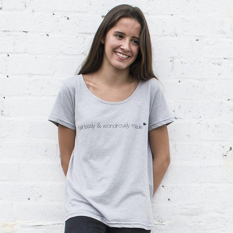 Womens Wondrously Made Boxy Crew Tee