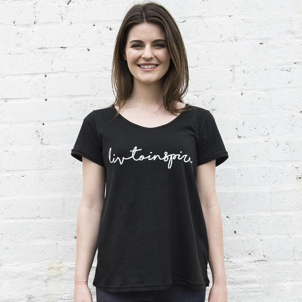 Womens LIV to Inspire Boxy Crew Tee - LIV Creative