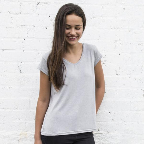 Womens Drapey V Neck Tee