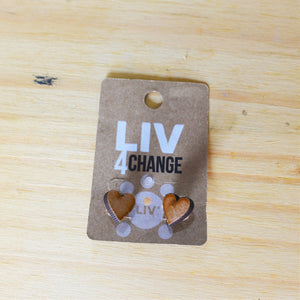 Heart Wooden Earrings - LIV Creative