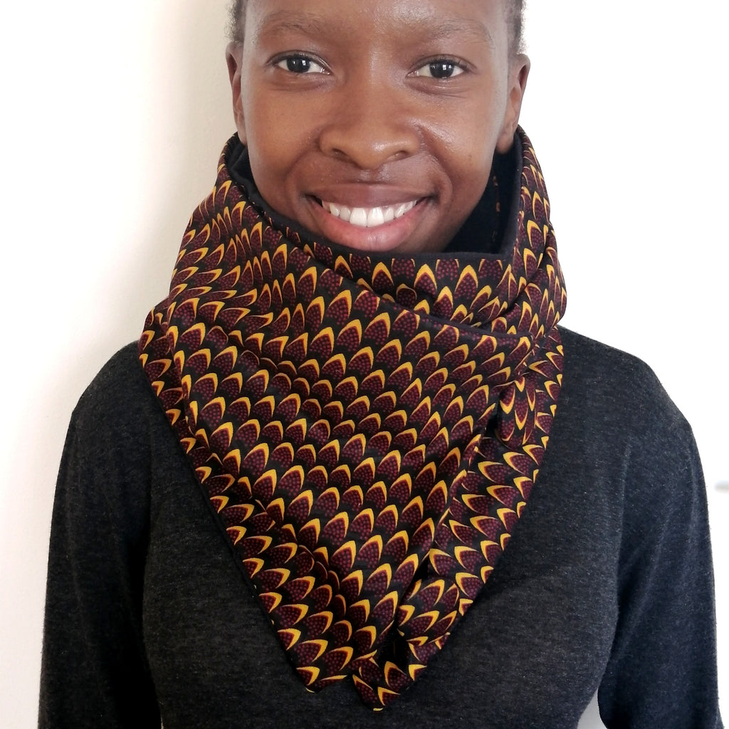 African Fabric Cowl Scarf - LIV Creative