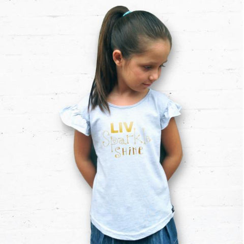 Pre Girls LIV Sparkle Shine Foil Tee - LIV Creative