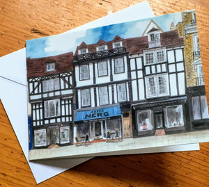 Greetings Card - Caffe Nero