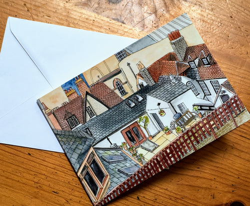 Greetings Card - Cambridge Rooftops 2