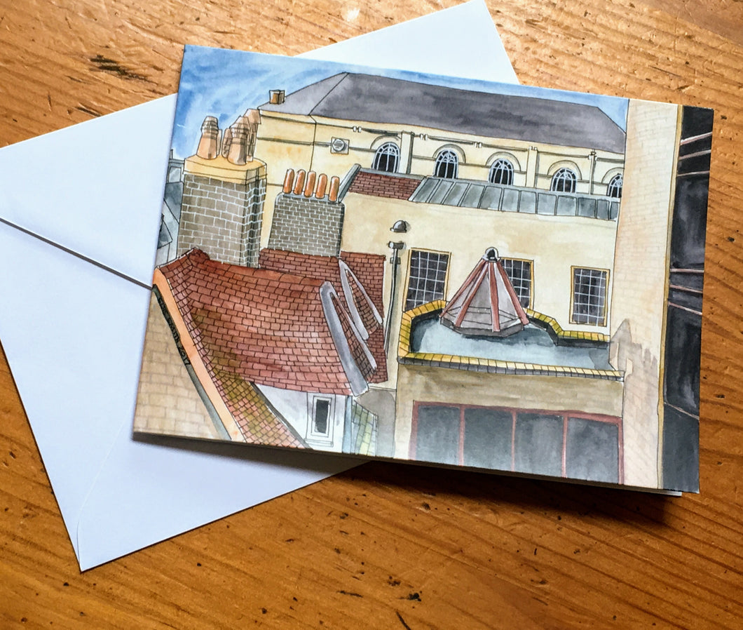 Greetings Card - Cambridge Rooftops