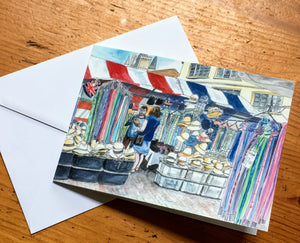 Greetings Card - Hat Stall