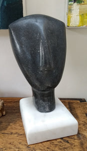 Small Black Cycladic Head