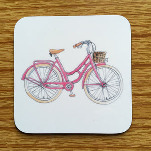 Coaster - Pink Bicycle