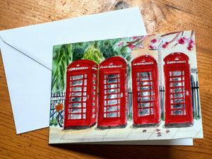 Greetings Card - Phone Boxes