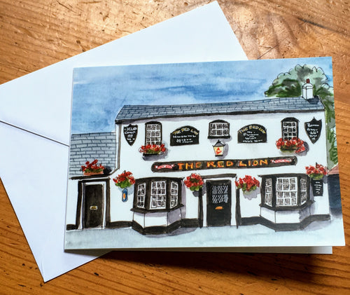 Greetings Card - The Red Lion