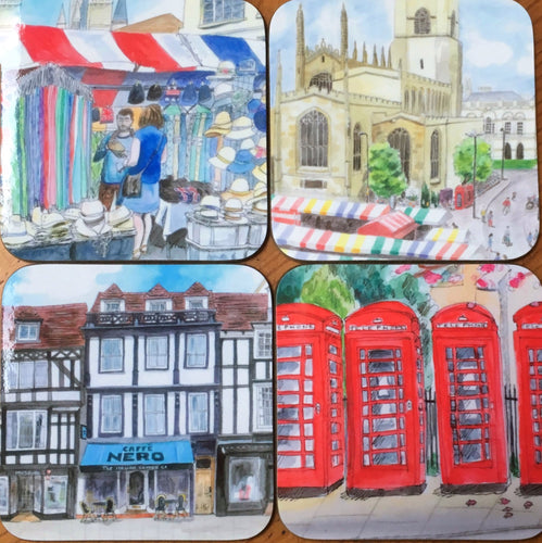 Coaster - Set of 4 Cambridge Scenes