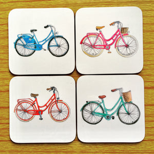 Coaster - Set of 4 Bicycles