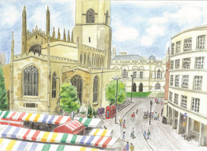 Market Square, Cambridge (Print)
