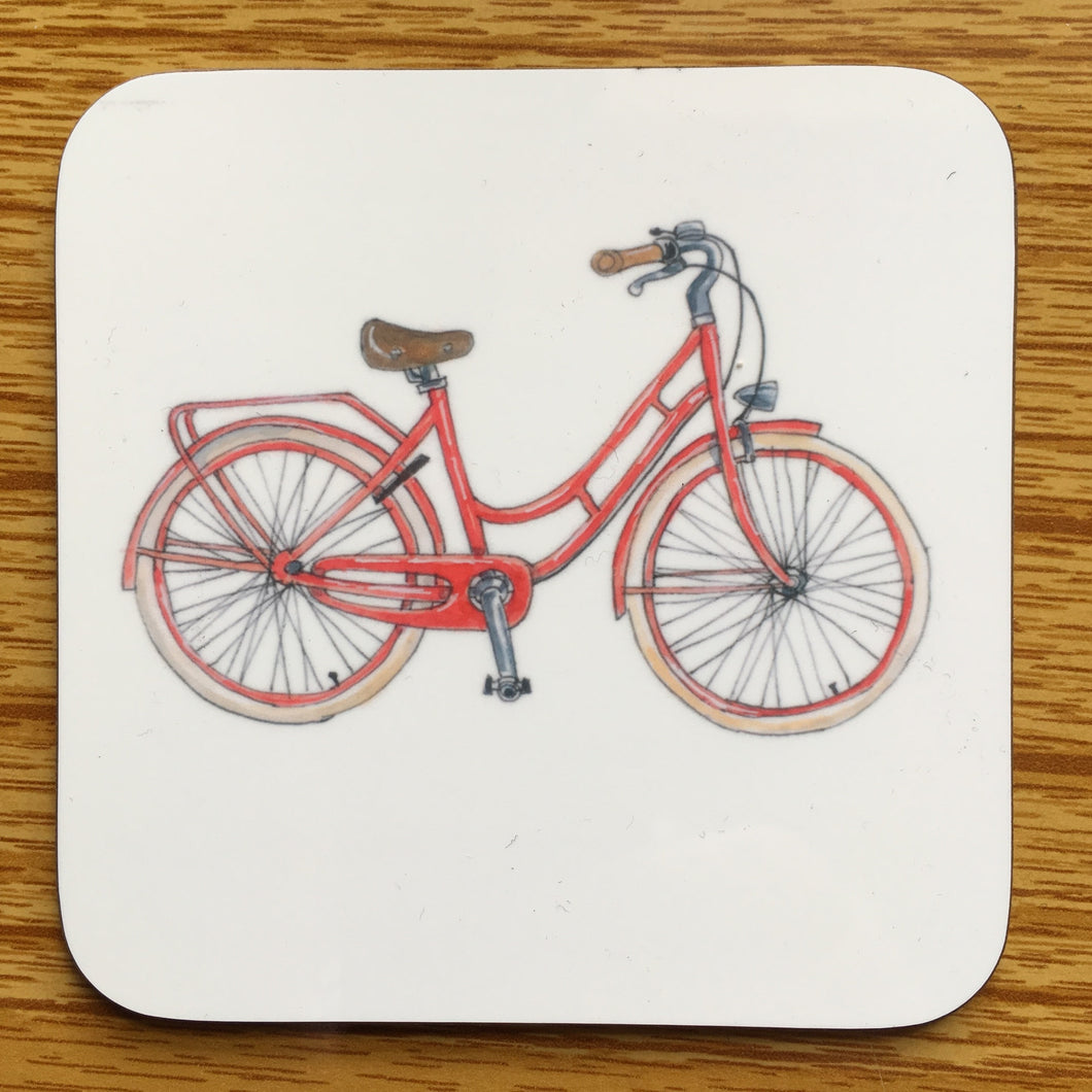 Coaster - Red Bicycle