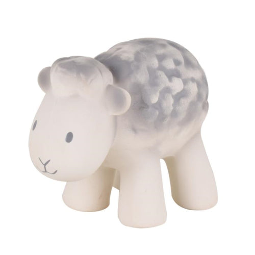 Tikiri Large Sheep Teether with Bell - Sustainable Rubber
