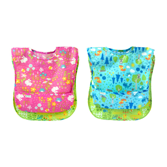 Green Sprouts Easy-Wear Toddler Bibs - 2 pack (9-18 months)