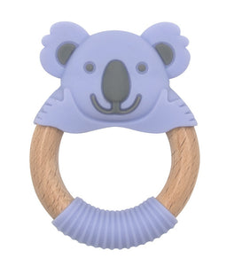 Bibibaby Kira Koala Teether Violet & Grey
