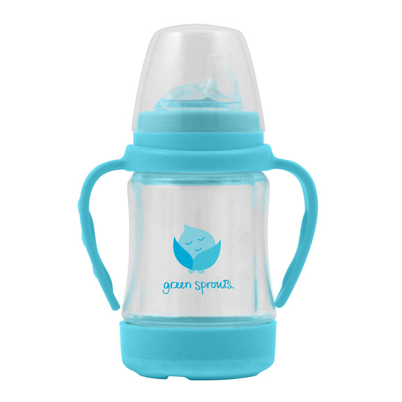 Green Sprouts Glass Sip & Straw Cup 6mo+ - Light Aqua
