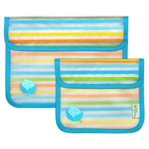 Green Sprouts Reusable Snack Bag (2pk)-Aqua Set-6mo+
