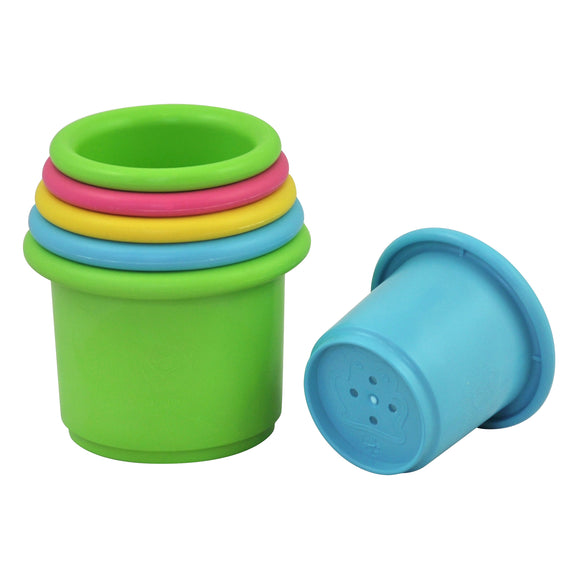 Sprout Ware Stacking Cups made from Plants (6 cups) - Multicolor - 6mo+