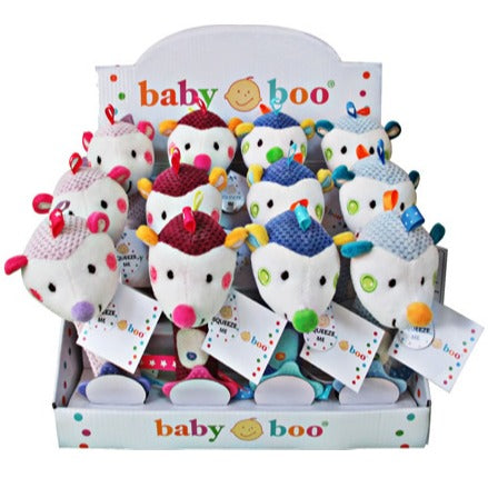 Baby Boo Colourful Hedgehog Squeaker