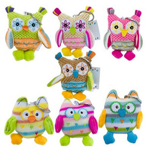 Baby Boo Owl Keyrings Assorted