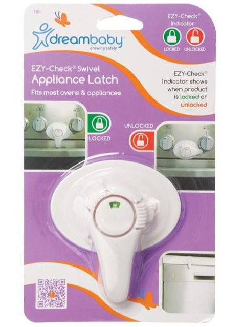 Dreambaby EZY CHECK® SWIVEL OVEN LOCK - White