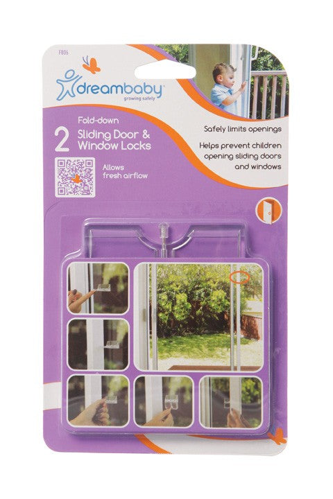 Dreambaby Adhesive Fold-Away Sliding door & Window Locks