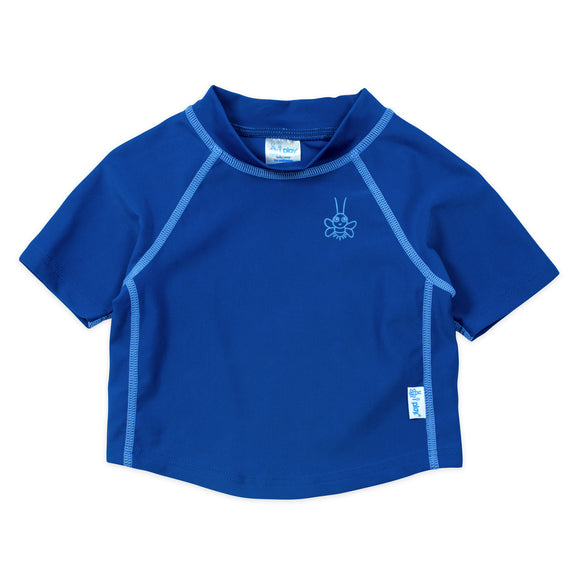 iPlay Short Sleeve Rashguard Shirt-Royal Blue