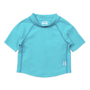 iPlay Short Sleeve Rashguard Shirt - Light Aqua