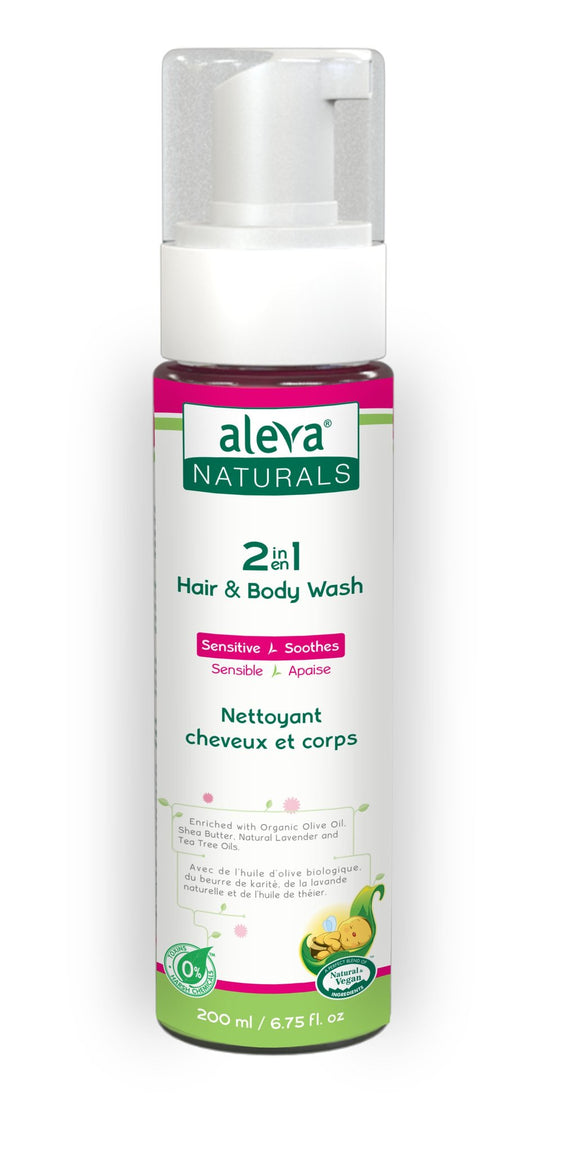 Aleva Naturals 2 in 1 Hair & Body Wash- 6.8 fl.oz / 200ml