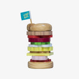 Make Me Iconic Wooden Stacking Burger Toy