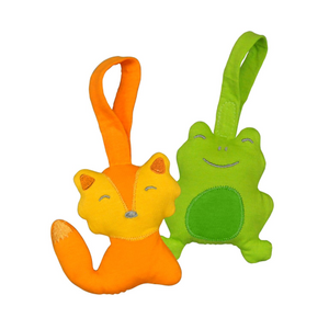 Green Sprouts Adventure Friends made from Organic Cotton (2pk)-Orange/Green Set-3mo+