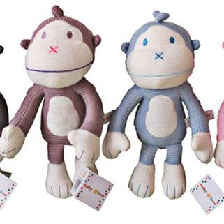 Baby Boo Knitted Monkey - Pastel 25cm