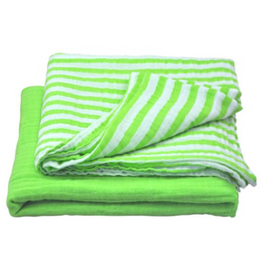 "Green Sprouts Muslin Swaddle Blanket made from Organic Cotton-Green Set-44"" x 44"""
