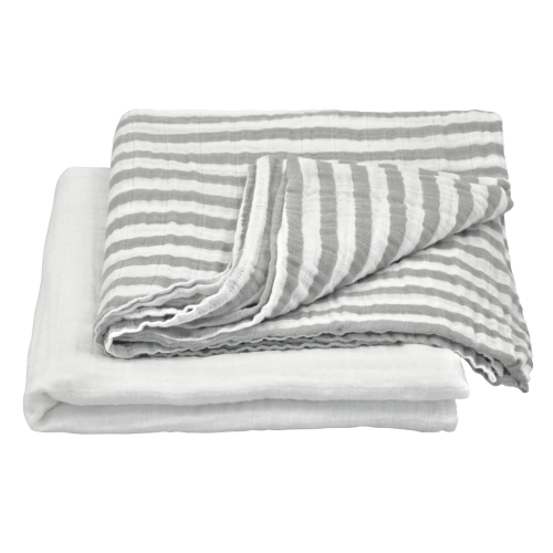 Muslin Swaddle Blanket made from Organic Cotton-Gray Set-44