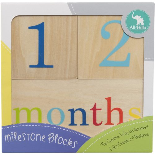 All4Ella Milestone Blocks Timber