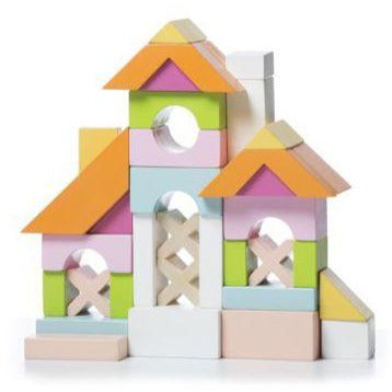 Cubika Wooden Block House Set LB-1