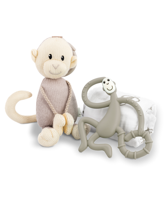 Matchstick Monkey - Teething Gift Set - Grey