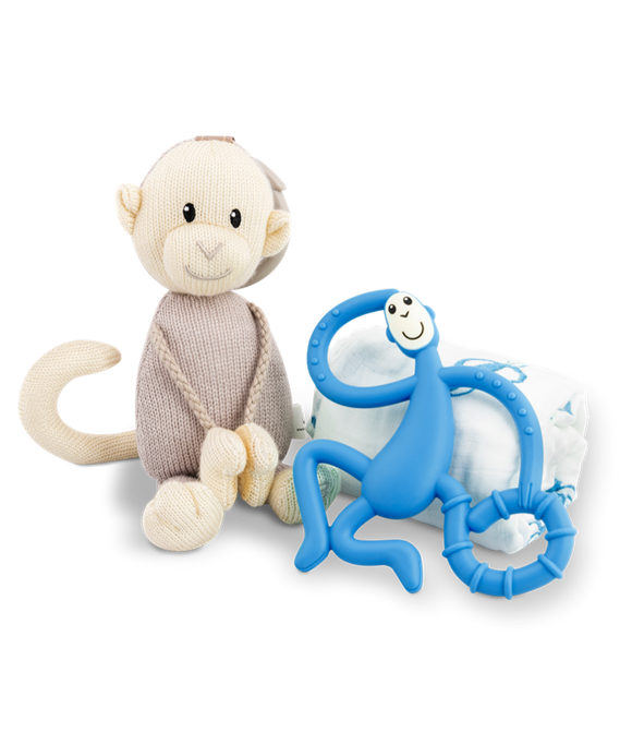 Matchstick Monkey - Teething Gift Set - Blue