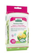 Aleva Naturals Bamboo Baby Hand 'n' Face Wipes - 30ct