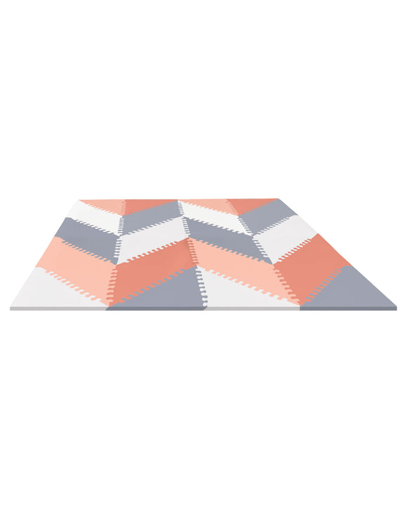 Skip Hop Playspot Geo Foam Floor Tiles - Grey/Peach