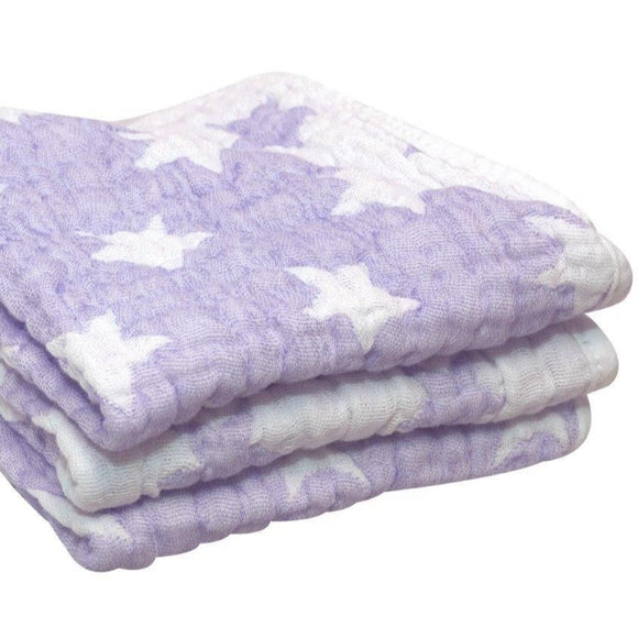 Spotty Giraffe Muslin Wash Cloths - 3 pack