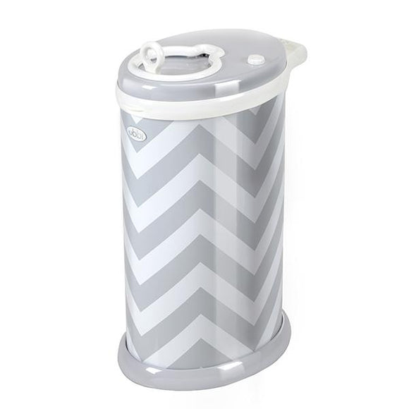 Ubbi Nappy Bin Grey Chevron