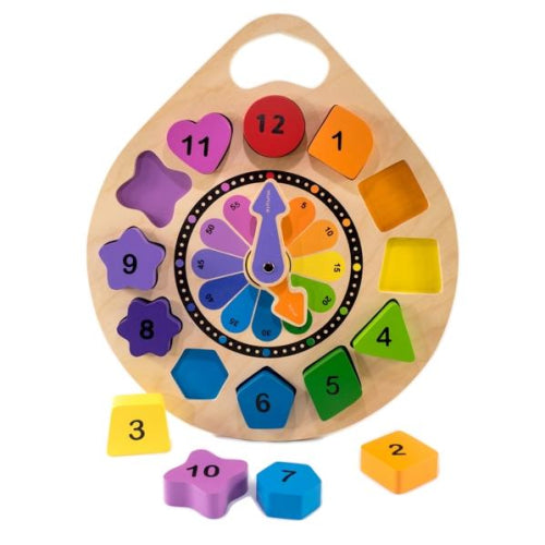 Kiddie Connect Shape Clock Puzzle