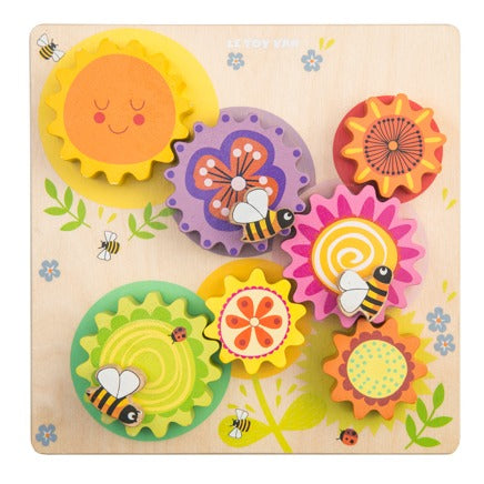 Le Toy Van Petilou Gears & Cogs Busy Bee Learning Puzzle