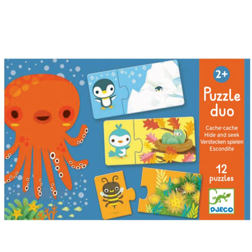 Djeco Duo Hide and Seek 24pc Puzzle