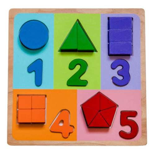 Kiddie Connect Fractions With Numbers Puzzle