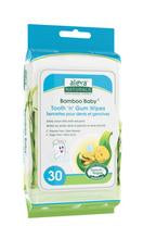Aleva Naturals Bamboo Baby Tooth 'n' Gum Wipes - 30ct